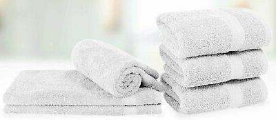 Luxury White Towels - Absorbent Hotel 6-Pack