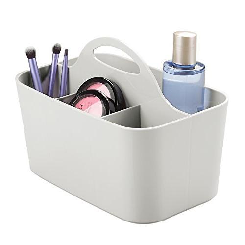 mDesign Bathroom Cabinet, Under Sink Storage Caddy, Divided
