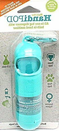 Magnet & Steel HandiPOD Dog Poop Bag and Hand Sanitizer Disp