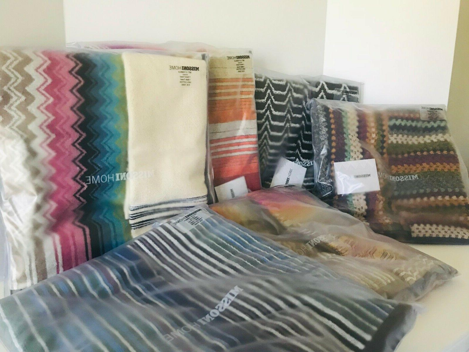 Missoni Home Matching Bath & Hand Towels or Towel Only Set N