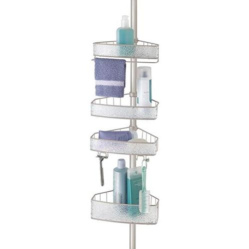 mdesign bathroom shower tension caddy