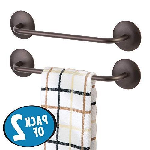 mDesign Kitchen Bar Holder Towels, Dish Pack of Bronze