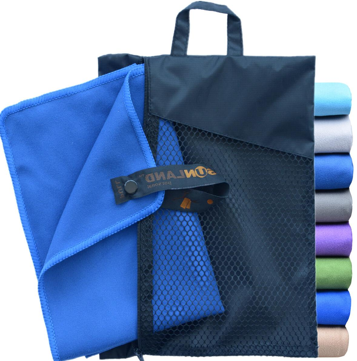 Sunland Microfiber Travel Beach Towel Large Quick Dry For Sp