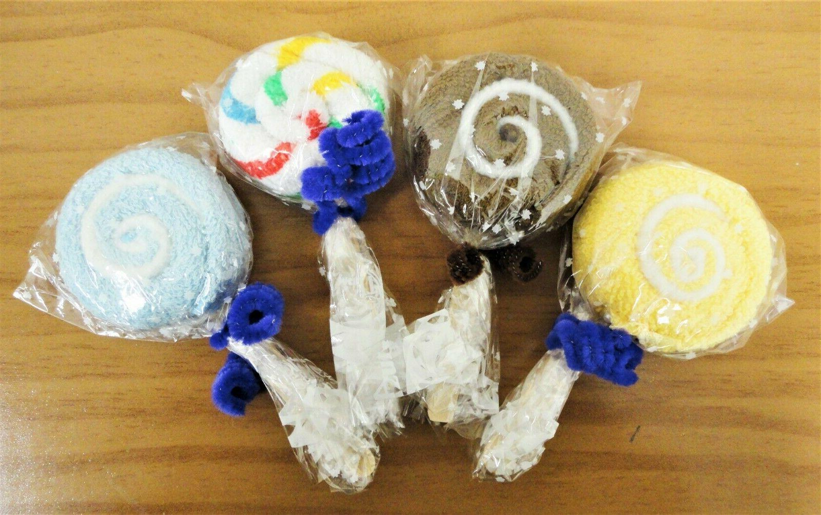 mini lollipop hand towel party favor assorted
