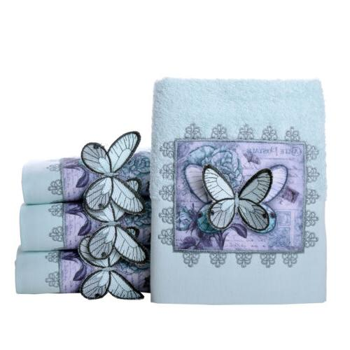 MINTEKS Butterfly Embroidered Face Cotton, Hand