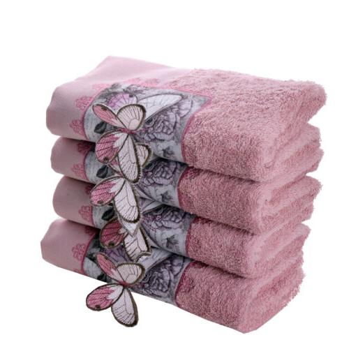 MINTEKS Face Towel 100% Cotton, 4 Hand Towels