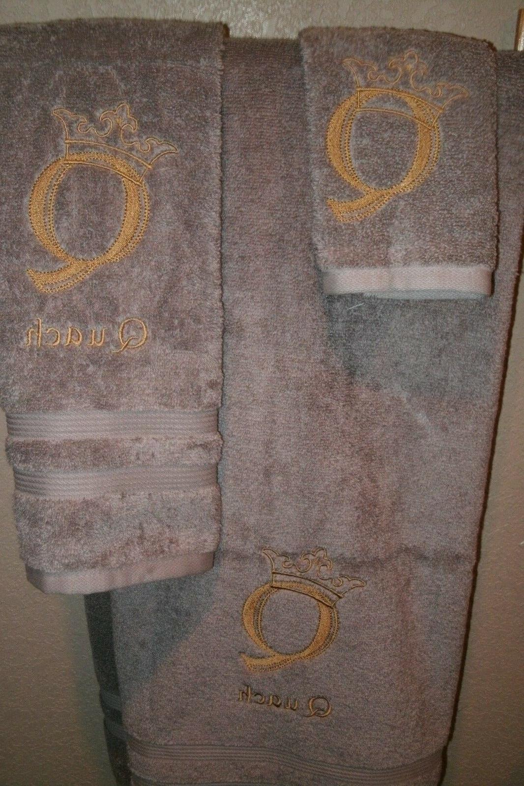 Monogram Engraved Personalized Piece Towel ANY