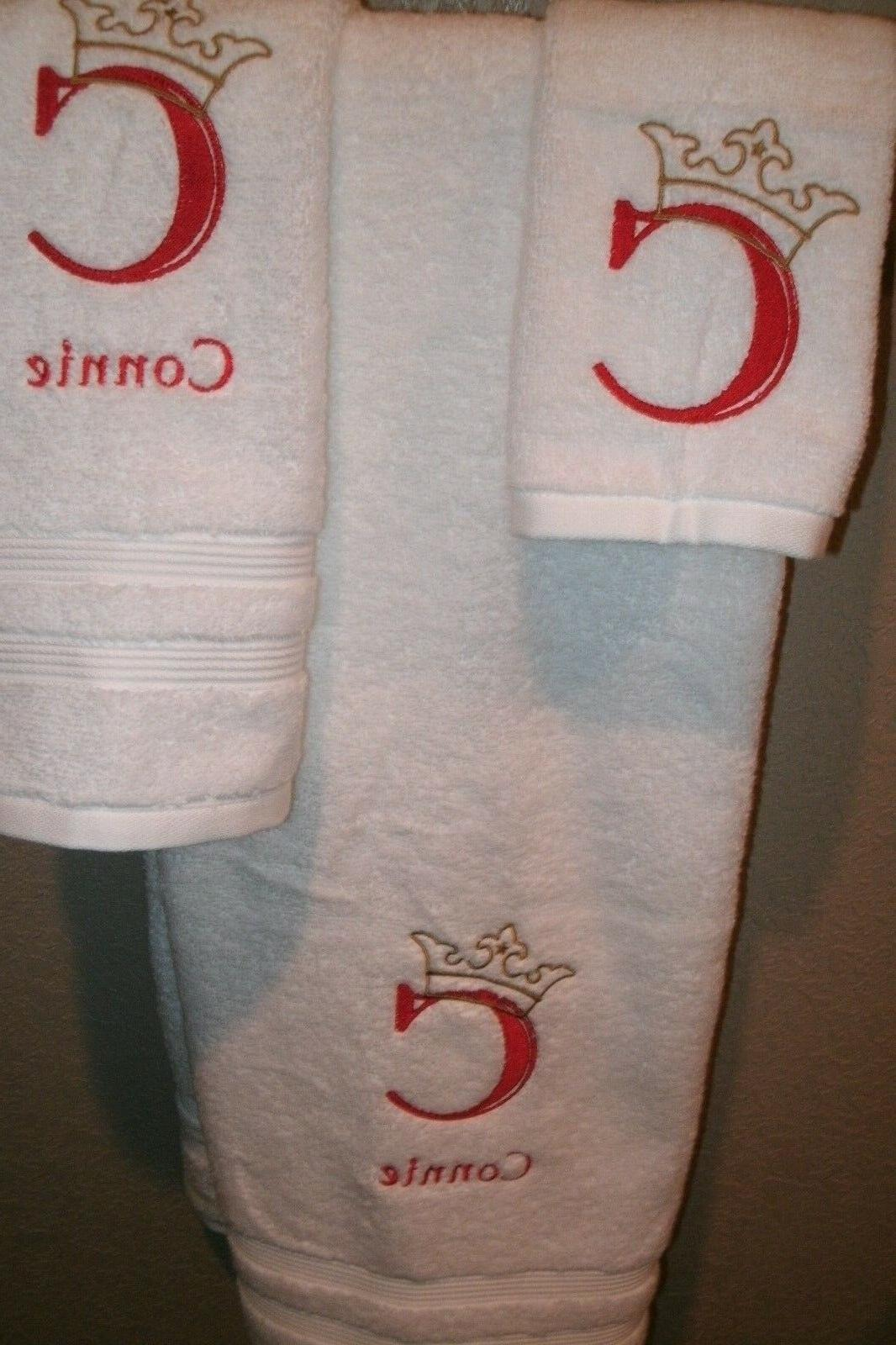 Monogram Engraved Personalized Piece Towel COLOR