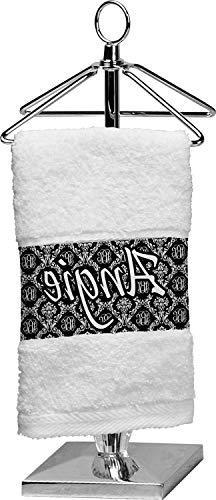 RNK Shops Monogrammed Damask Finger Tip Towel