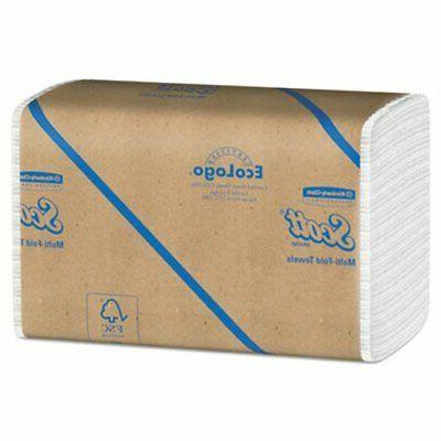 Scott Multi-Fold Towels, 9 1/2in. x 9 3/8in., White, Case Of