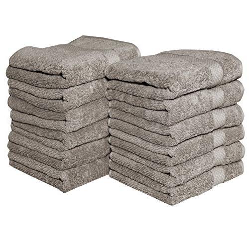 mushroom solid hand towel set