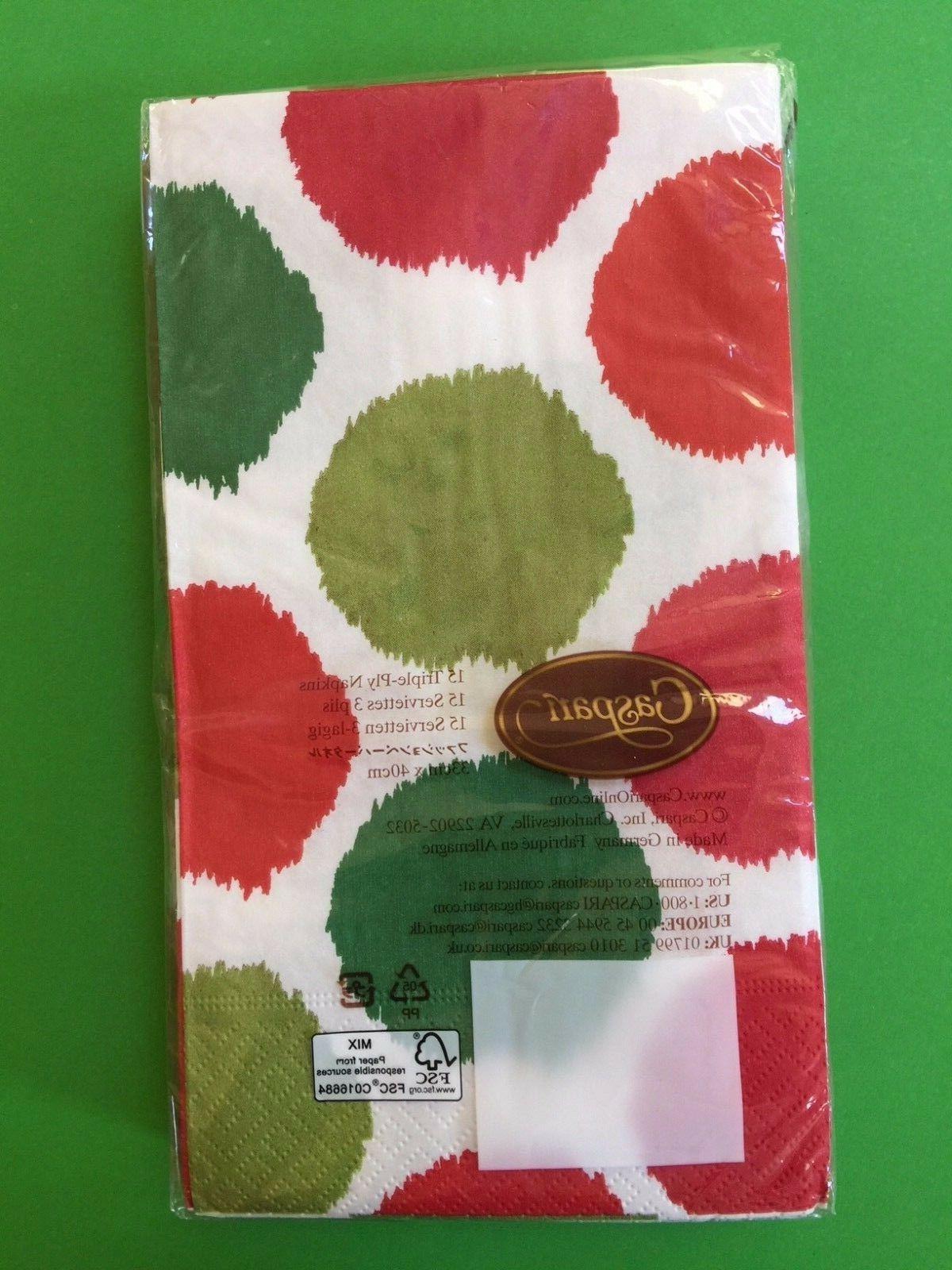 NEW CASPARI 3 Ply TOWELS Holiday Decor