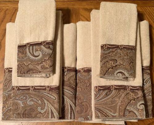 new 6pc bradford bath hand fingertip towel