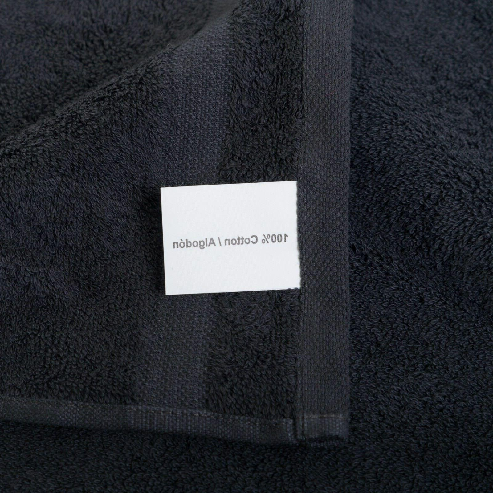 NEW BLACK SUPER SOFT LUXURY PURE TURKISH COTTON TOWELS
