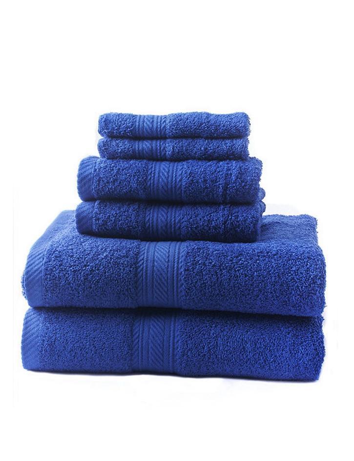 new cobalt 6 piece bath towel set