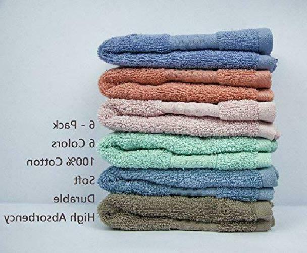 New Cleanbear Face-Cloth Set100% 6-Pack