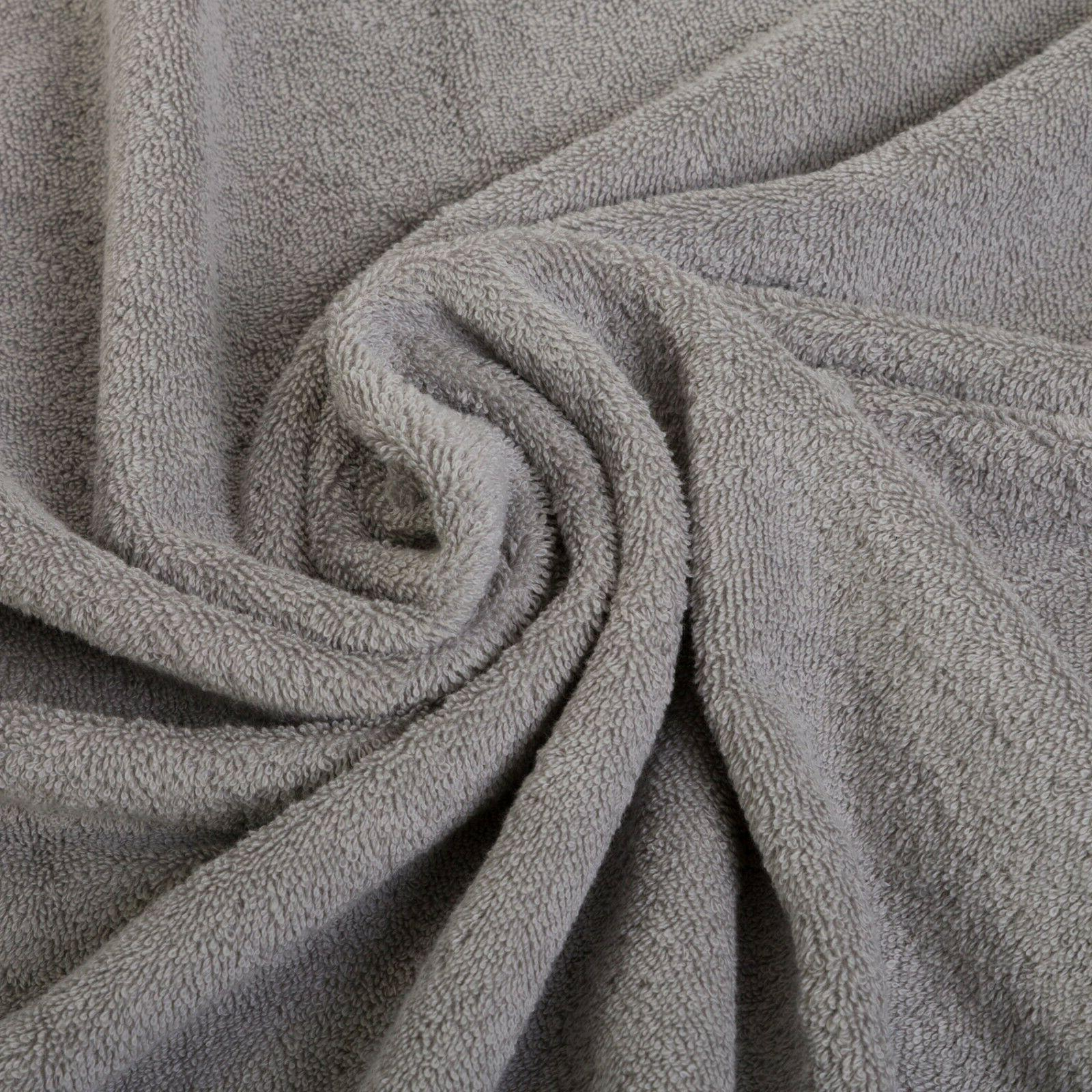 NEW GREY SUPER LUXURY PURE TURKISH COTTON 8 TOWELS SETS