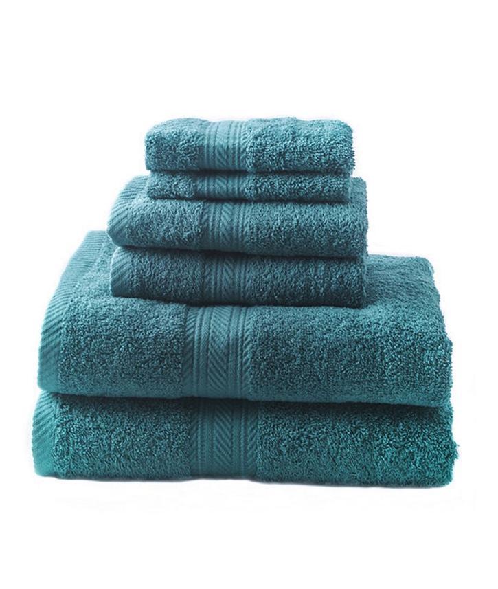 new teal 6 piece bath towel set