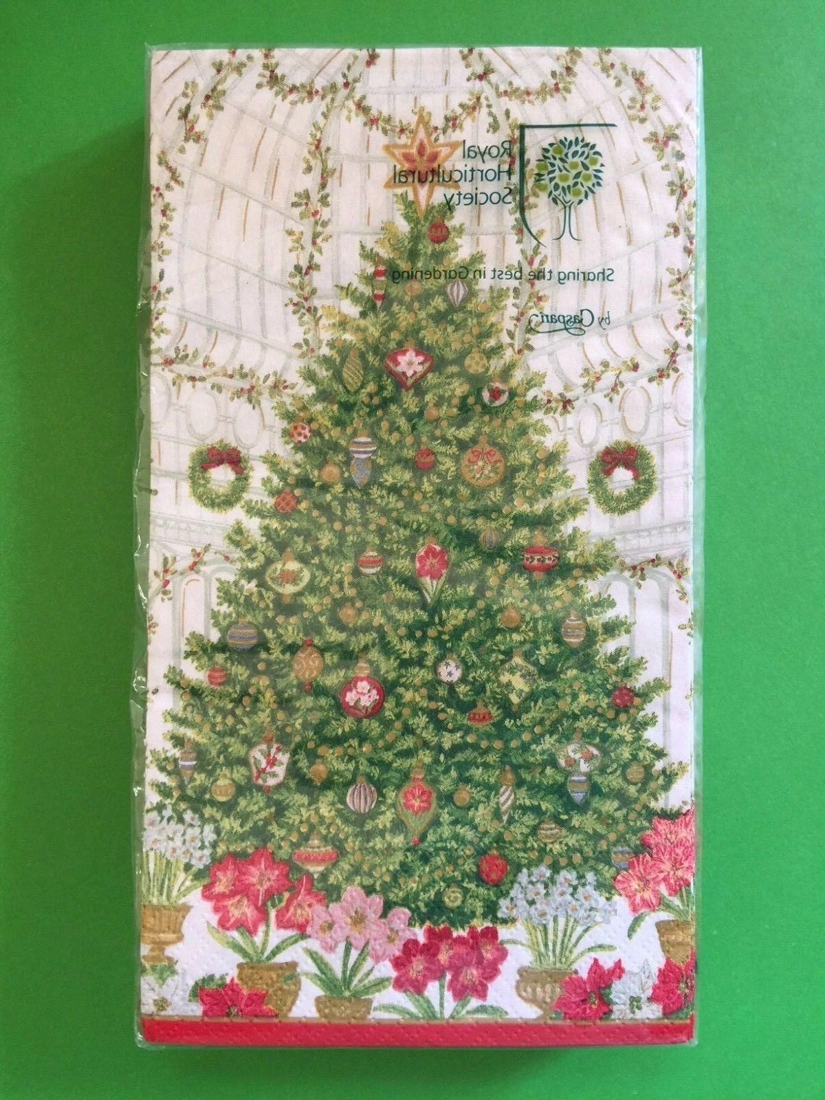 NEW CASPARI Ply GUEST TOWELS Christmas Decor