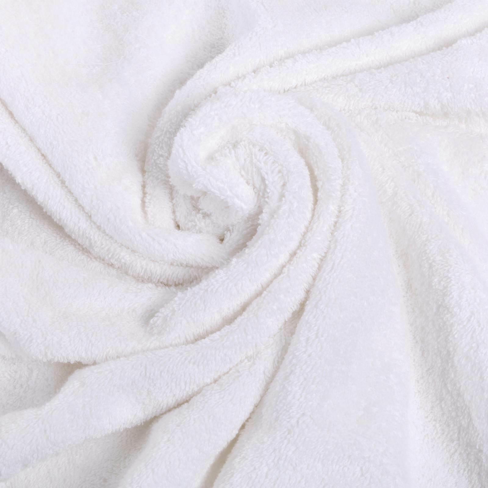 NEW WHITE SUPER TURKISH 100% COTTON HAND TOWELS