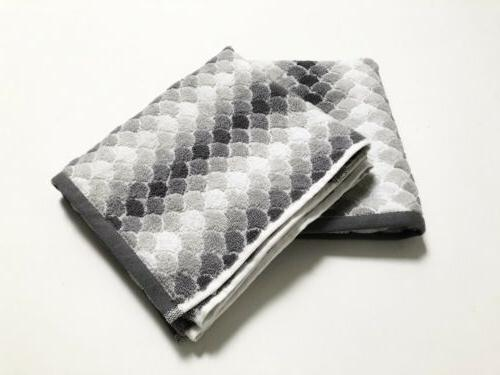 nwt 2pc fish scale print hand towels