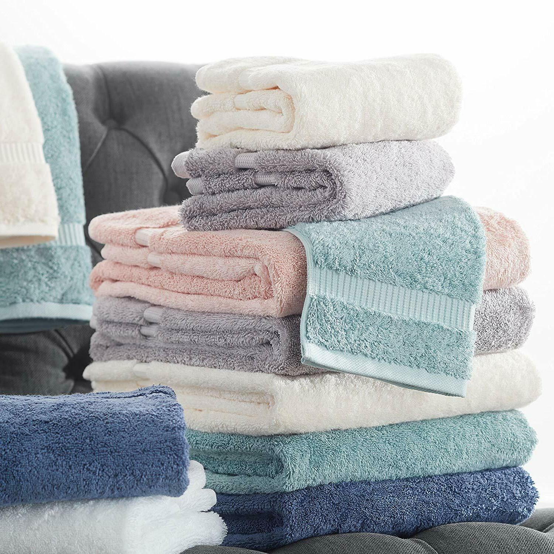 Luxurious Soft Organic Hand Towels, 6, Blue