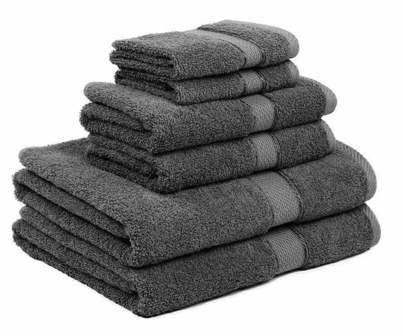 Premium Bamboo 6 Piece Bath Towels, Towels