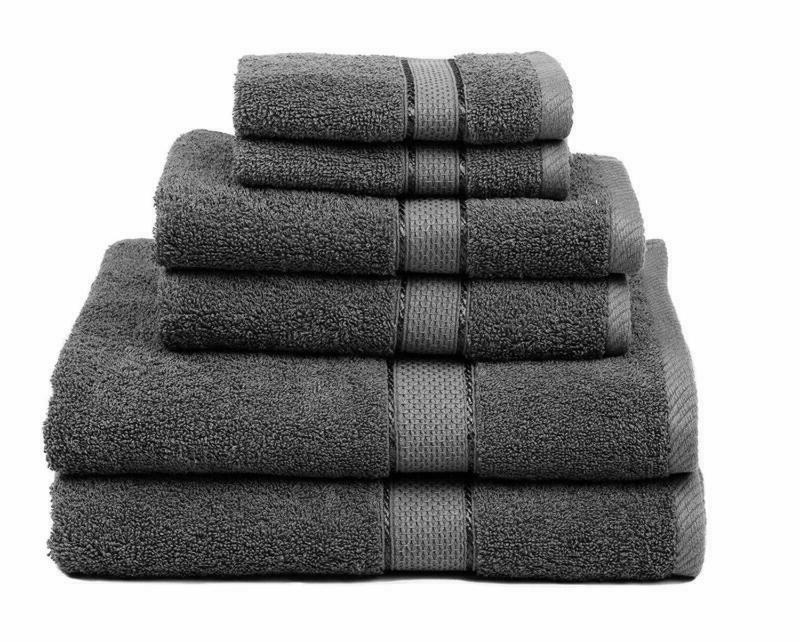 premium bamboo cotton 6 piece towel set