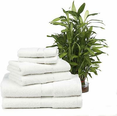 Premium Cotton 6 Bath Towels, 2 Hand Towels and