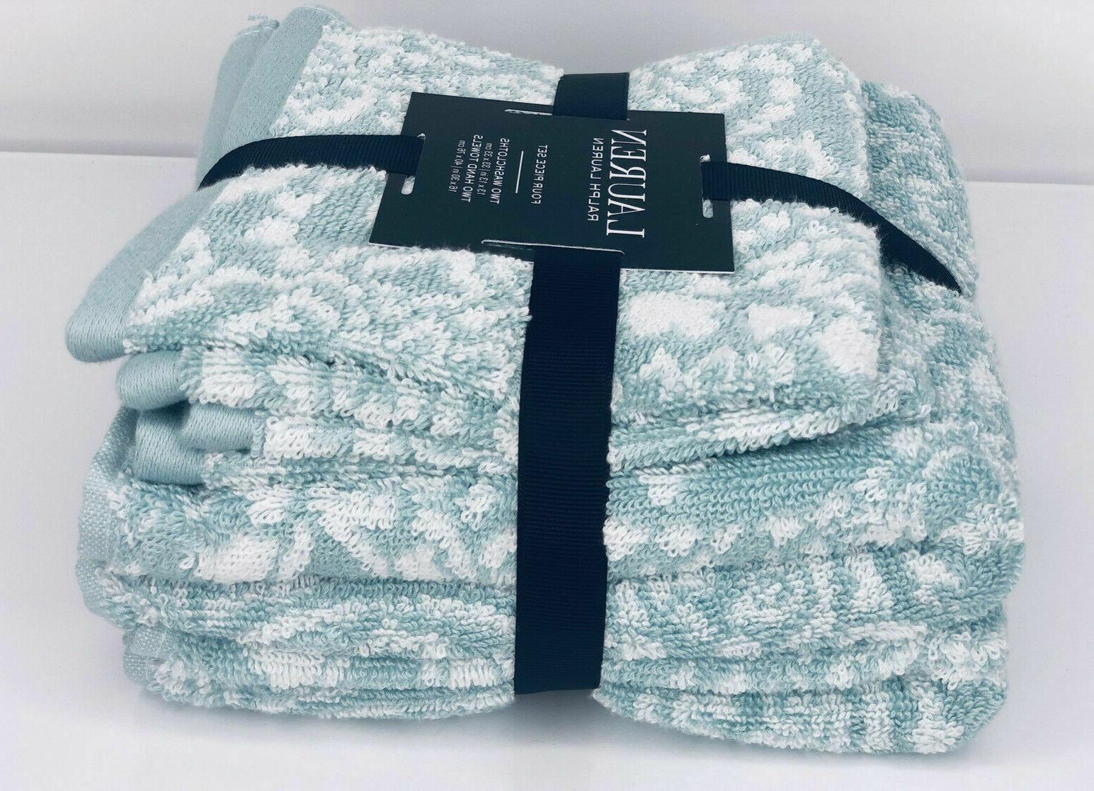 RALPH LAUREN Towel Set Hand Towels Washcloths cotton