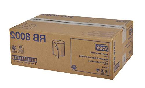 "Tork Universal RB8002 Hardwound Paper Roll Towel, 7.87"" Width Length,"