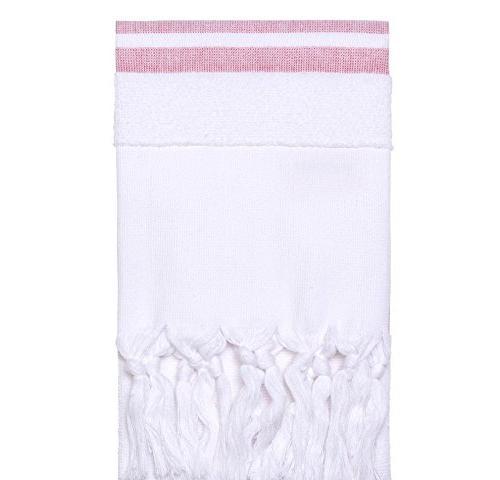red white stripe hand towel