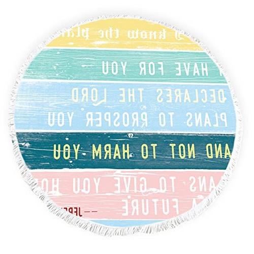 round beach towels jeremiah bible