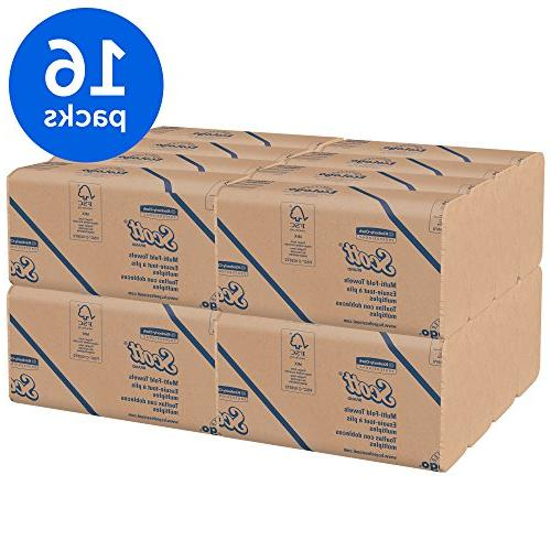 Scott 100% Recycled, 9 2/5, Natural, per Pack