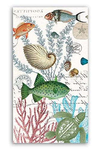 Michel Design Works Sea Life Hostess Triple-Ply Paper Napkin