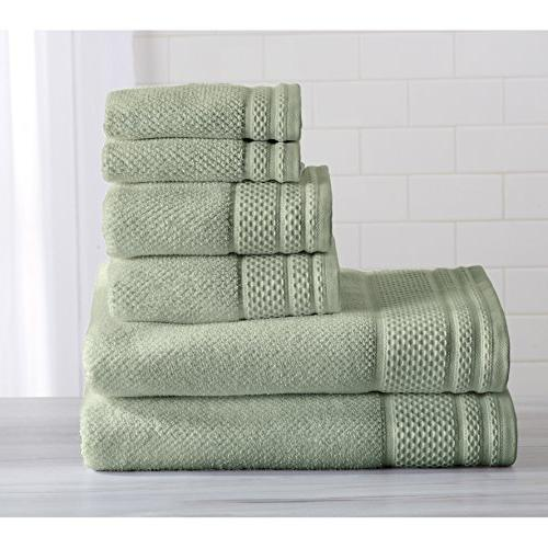 seafoam green solid towel set