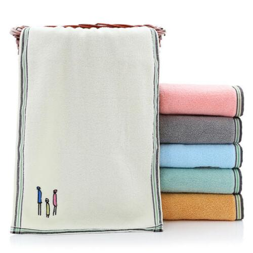 2pcs cotton hand towels embroidery soft travel