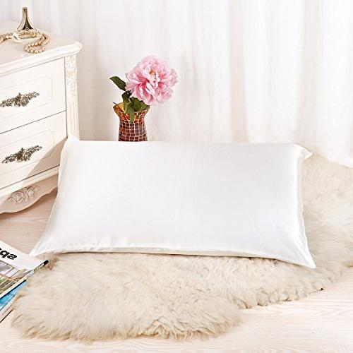 Natural Silk Pillowcase Hypoallergenic 19 momme 600 thread c