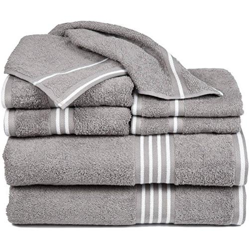 silver white solid towel set