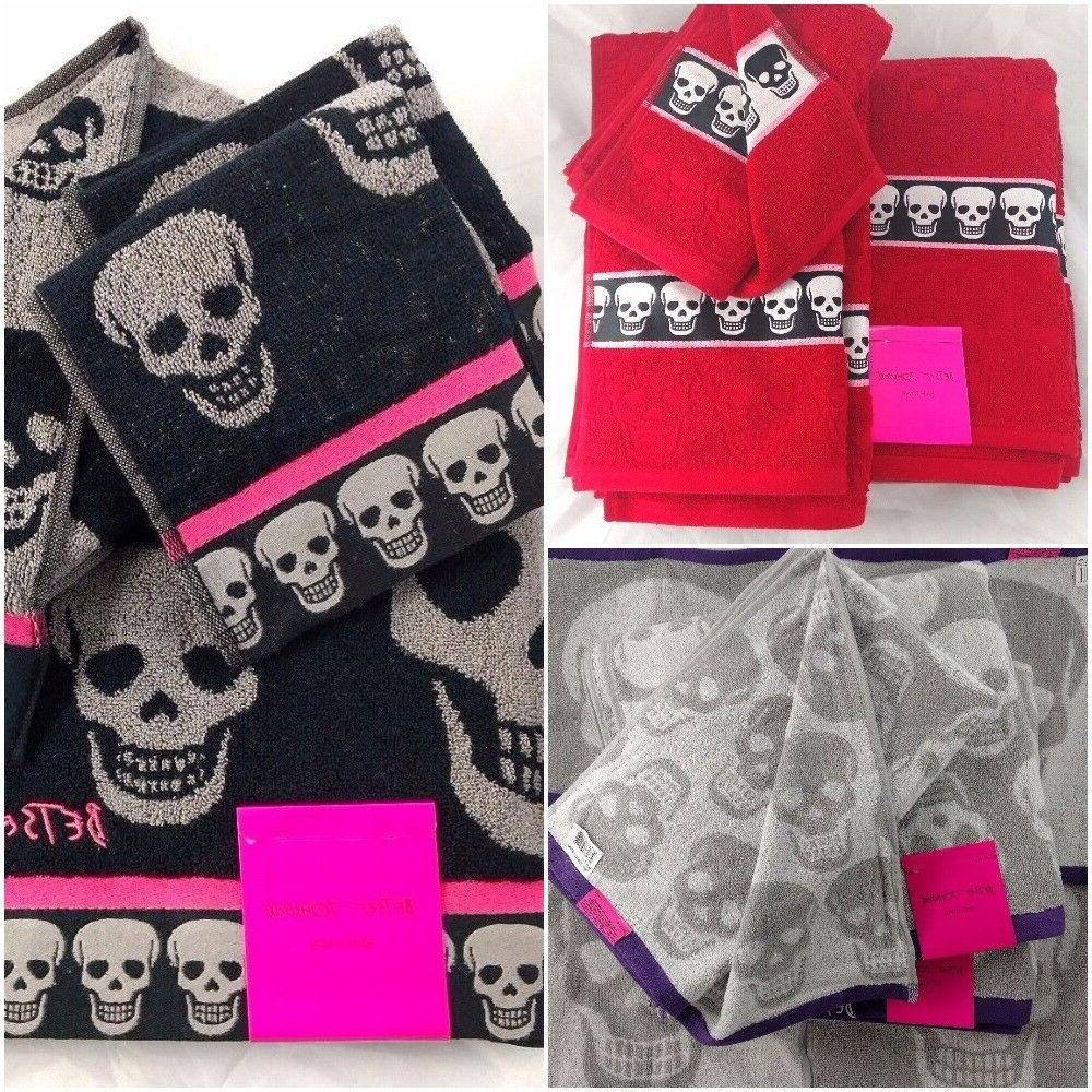 skull bath towel sets mix and match