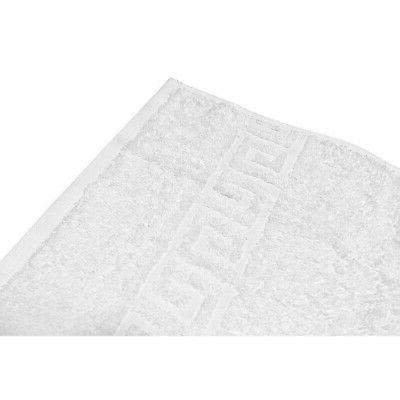 solid white cotton hand towel