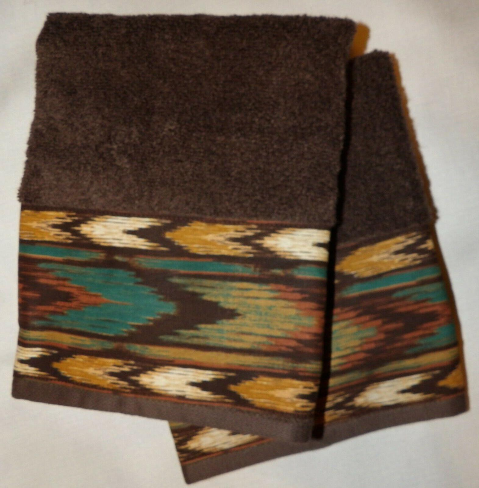 southwest western cabin hand or guest towels