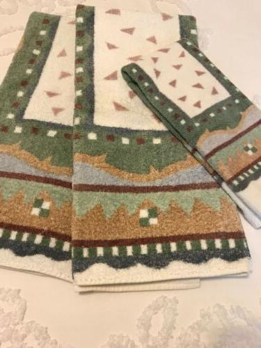 southwest western pattern towels by set of