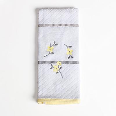 SKL Home Spring Garden Hand Towel, White