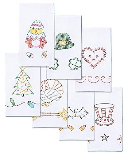 stamped decorative hand towels holidays