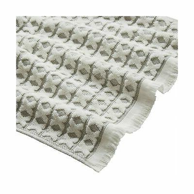 Stone & Sculpted Criss Cross Towel 3, Charcoal