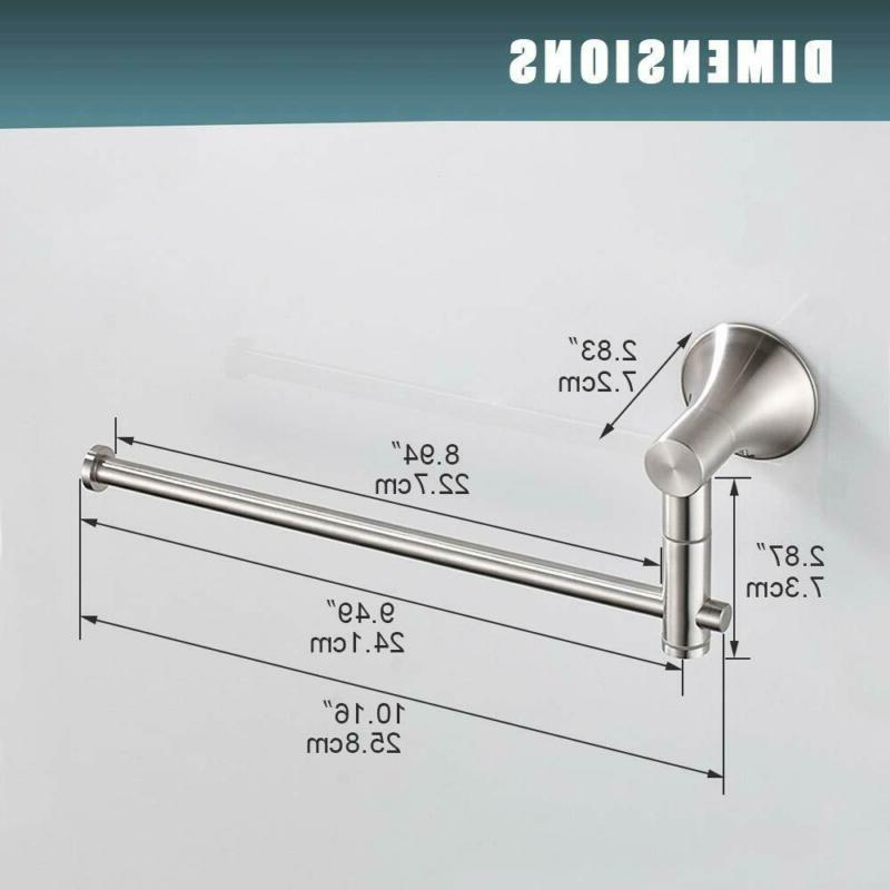 BESy Stainless Single Towel 10 Inch Swing Out Arm,
