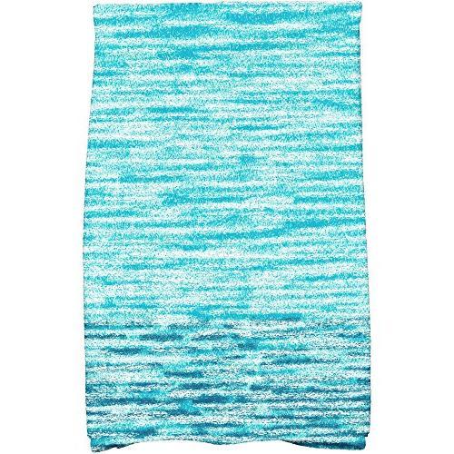 teal ocean view hand towel