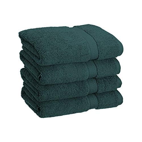 teal solid hand towel set