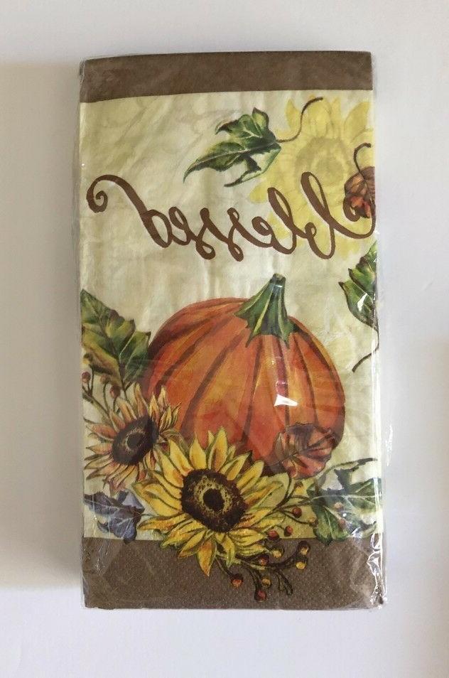 Thanksgiving Buffet Towels pk Harvest Festival